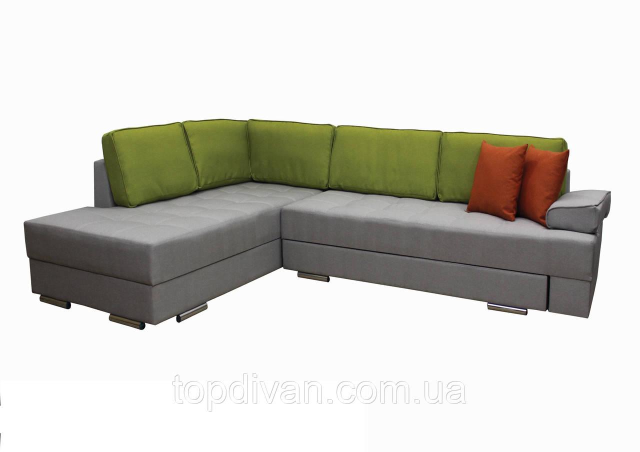 """Угловой диван """"Принстон"""". Люкс 05+22+10. Габариты: 2,95 х 2,10  Спальное место: 2,00 х 1,60"""