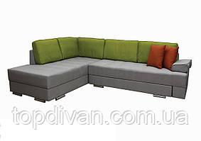 """Кутовий диван """"Прінстон"""". Люкс 05+22+10. Габарити: 2,95 х 2,10 Спальне місце: 2,00 х 1,60"""