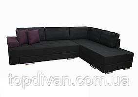 """Кутовий диван """"Прінстон"""". Люкс 23+17. Габарити: 2,95 х 2,10 Спальне місце: 2,00 х 1,60"""