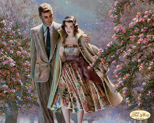 """Рисунок на ткани для вышивания бисером """"Первое свидание"""", фото 2"""