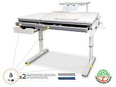 Mealux Montreal Multicolor Lite (белый) + Duo Kid | Детская стол-парта и кресло ортопедическое, фото 2
