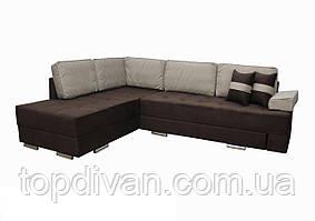 """Кутовий диван """"Прінстон"""". Люкс 12+01. Габарити: 2,95 х 2,10 Спальне місце: 2,00 х 1,60"""