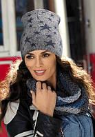 Красивая молодежная шапка от Kamea со звездочками - SARA.