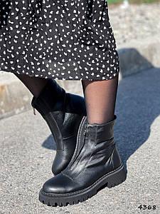 Ботинки женские Lana черные натуральная кожа ))