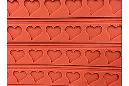 Килимок для макаронс Empire - 555 x 365 мм серце (8418), (Оригінал)