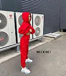 Женский костюм, трехнитка на флисе, р-р универсальный 42-46 (красный), фото 2