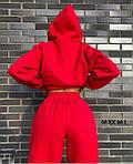 Женский костюм, трехнитка на флисе, р-р универсальный 42-46 (красный), фото 3