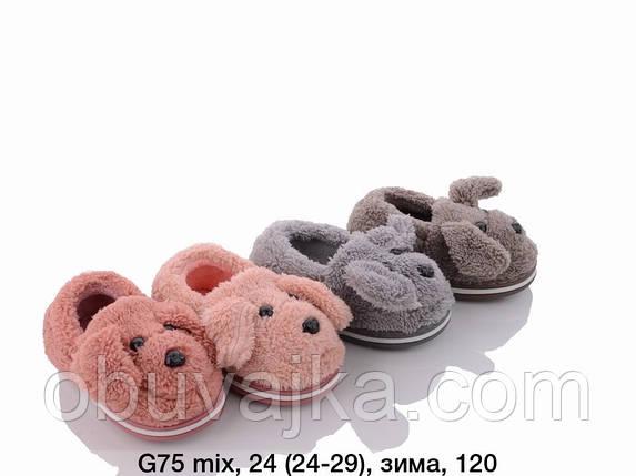 Дитяче взуття оптом Дитячі кімнатні зимові тапочки 2021 бренду Lion (рр. 24-29), фото 2
