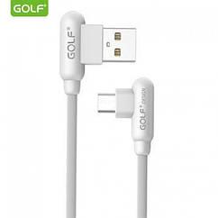 Шнур для зарядки Micro USB - USB GOLF GC-45 кабель 2,4 A Білий