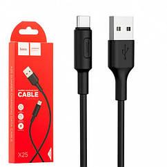 USB дата-кабель Hoco X25 Soarer Type-C 1 метр чорний