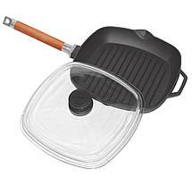 Чавунна сковорода гриль з кришкою 26см Біол 1026с