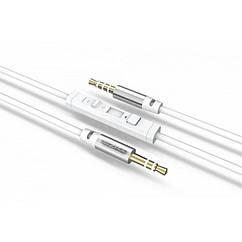 Кабель AUX Ezra LA01 з можливістю регулювання гучності на кабелі Білий