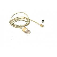 Магнітний кабель USB type C Magnetic USB Cable в обплетенні Золотий