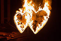 Свадебное украшение ! Огненные сердца !