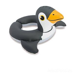 Надувной безразмерный круг Intex 59220 «Пингвин», 64 х 64 см, (Оригинал)