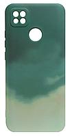 Силикон Xiaomi Redmi 9C dark green Watercolor Case