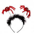 """Обідок на Хелловін """"Павучки"""" чорний, фото 2"""