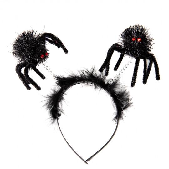 """Обідок на Хелловін """"Павучки"""" чорний"""