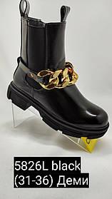 Модные лаковые ботинки для девочки.