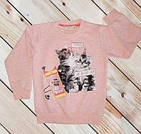 Свитшот для девочки розовый Размеры 98 104 110 116 122