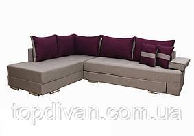 """Кутовий диван """"Прінстон"""". Люкс 24+21. Габарити: 2,95 х 2,10 Спальне місце: 2,00 х 1,60"""
