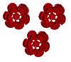 Мини декор Цветок вязаный Красный 3.5 см HandMade