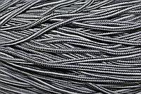 Шнур 5мм  с наполнителем (200м) черный+серый+белый