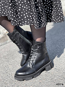 Ботинки женские Servan черные натуральная кожа ))