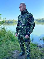Мужской военный костюм Soft Shell ESDY мультикам камуфляжный зеленый