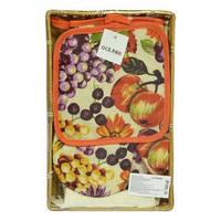 Кухонный набор Фрукты в корзине 3 предмета OSELYA UKRAINE
