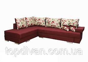 """Кутовий диван """"Прінстон"""". (тканина 9 ) Габарити: 2,95 х 2,10 Спальне місце: 2,00 х 1,60"""