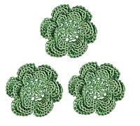 Мини декор Цветок вязаный Светло-зеленый 3.5 см HandMade