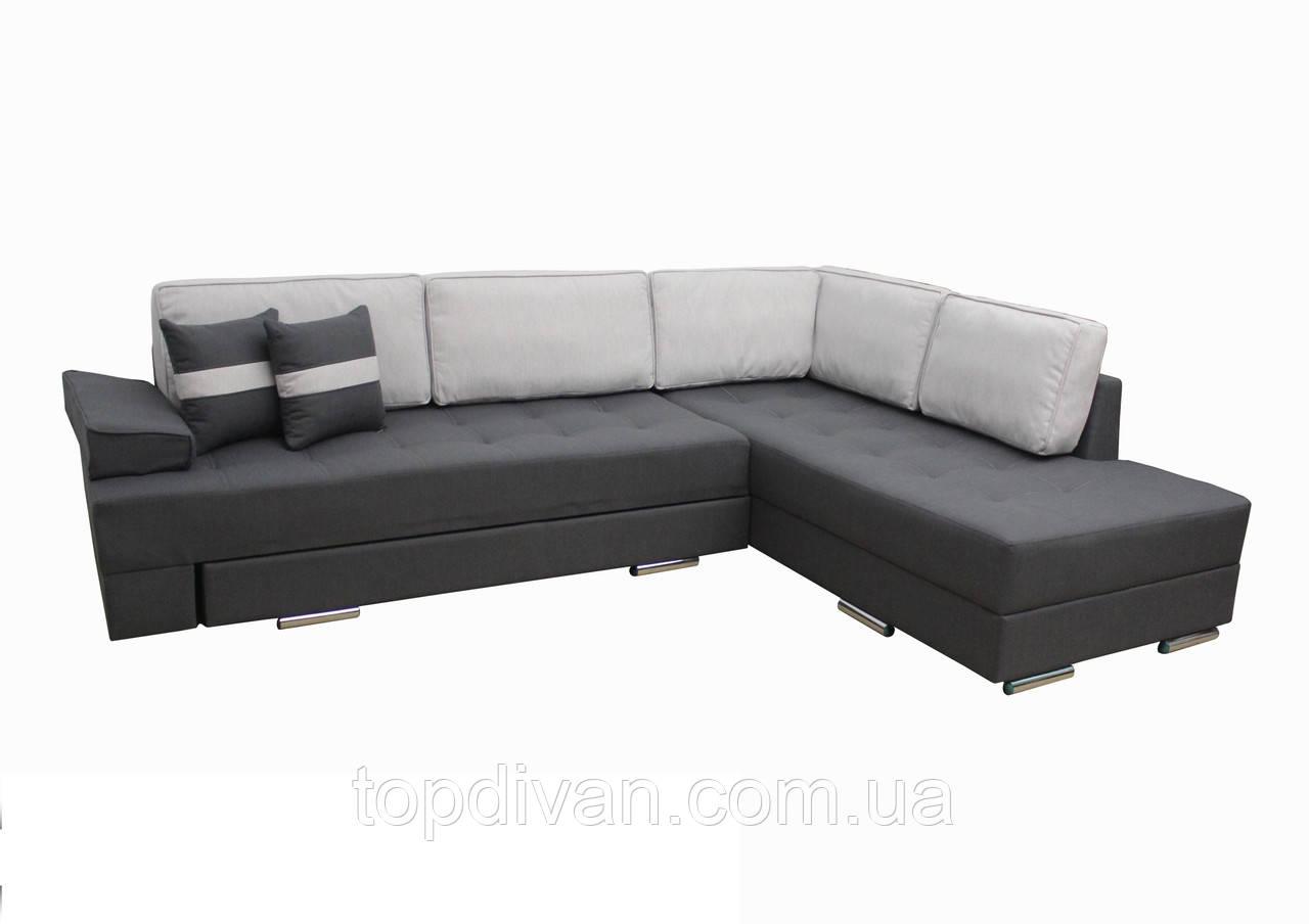 "Угловой диван ""Принстон"". (ткань 10) Габариты: 2,95 х 2,10  Спальное место: 2,00 х 1,60"