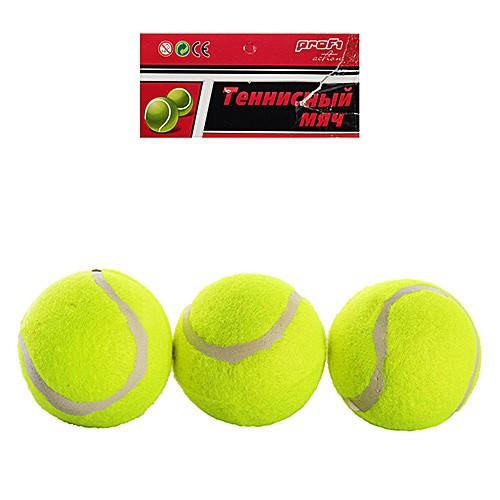 Теннисные мячи MS0234 6 см, 2 сорт (средний отскок), 3 шт в пакете 24*11*6см. Цена за набор мячи 3шт