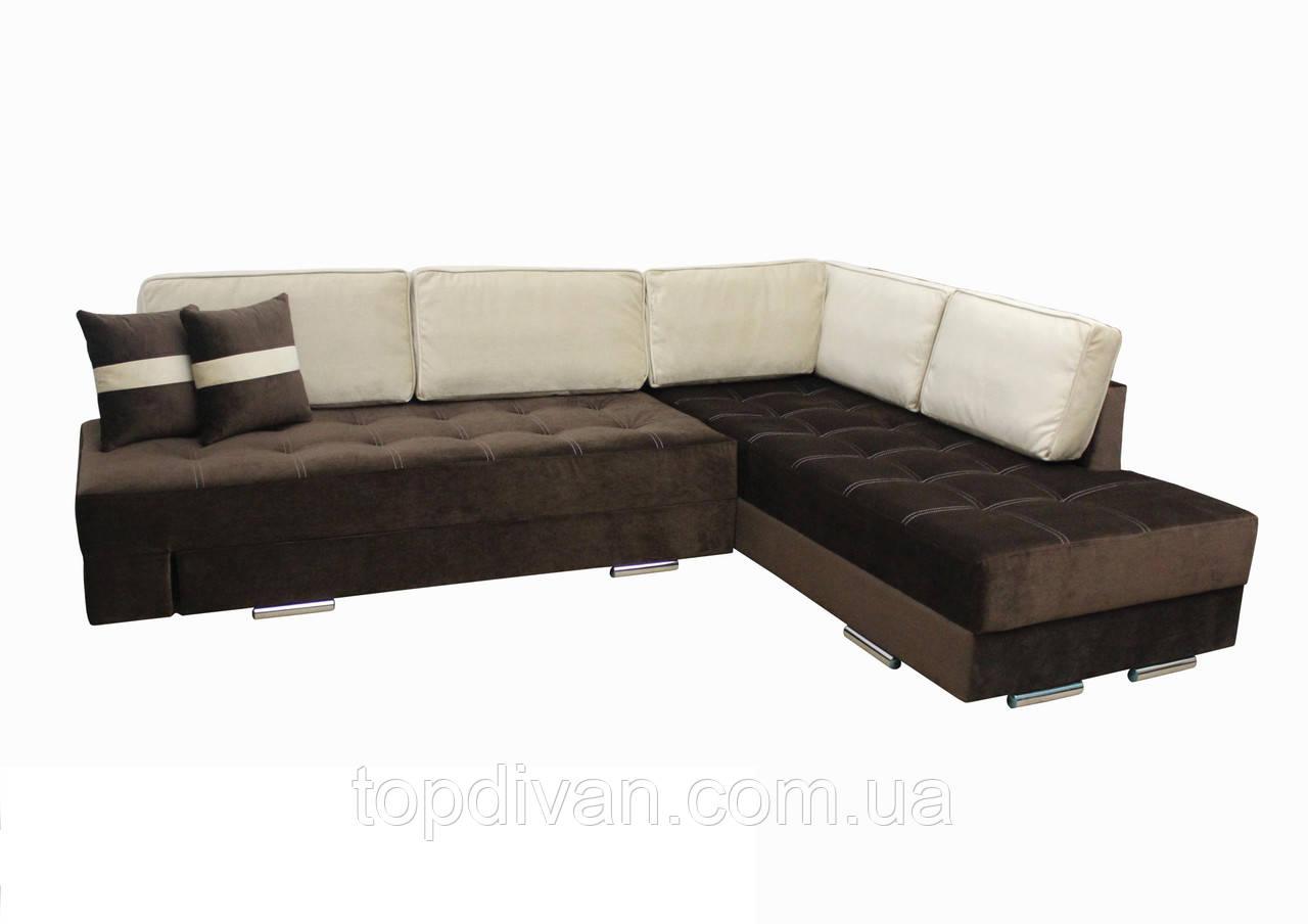 """Кутовий диван """"Прінстон"""". (тканина 6 ) Габарити: 2,95 х 2,10 Спальне місце: 2,00 х 1,60"""