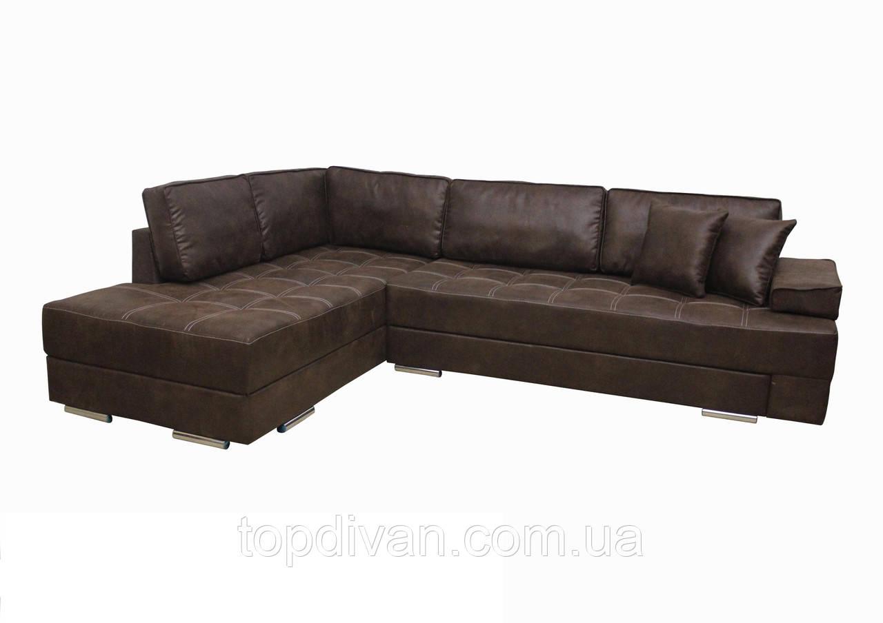 """Кутовий диван """"Прінстон"""". (тканина 4 ) Габарити: 2,95 х 2,10 Спальне місце: 2,00 х 1,60"""