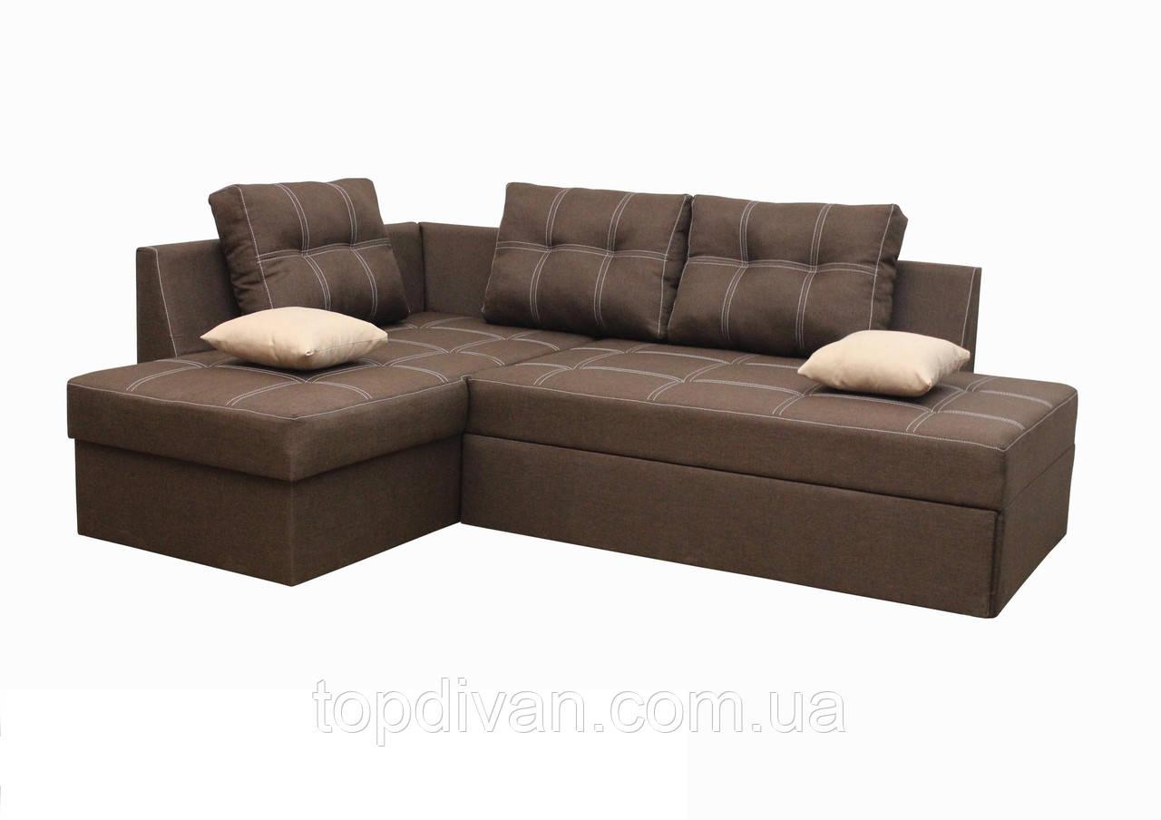 """Кутовий диван """"Сандро"""". (Люкс 12) Габарити: 2,25 х 1,70 Спальне місце: 2,05 х 1,45"""
