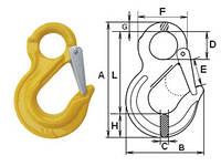 Крюк с проушиной и защелкой типа G80 3,15тн