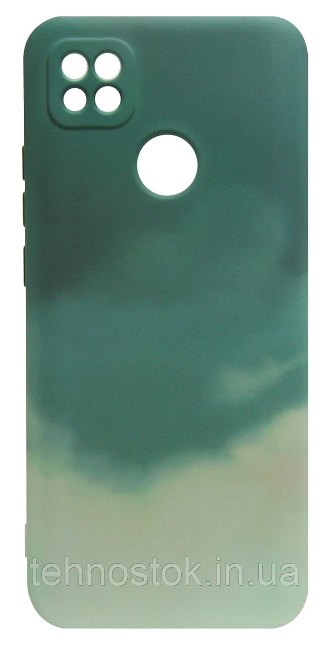 Силікон Xiaomi Redmi 9C dark green Watercolor Case