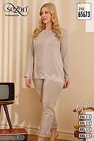 Комплект двійка жіночий: кофта та штани Sexen Туреччина батал 2XL, 3XL, 4XL, 5XL | 1 шт.