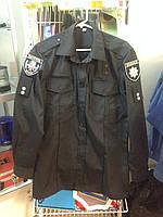 Рубашка Полиции форменная черная длинный рукав