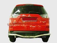 Задняя защита бампера из нержавейки Mitsubishi Outlander XL 2006-12