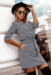 Платье MF203 Черно-белое S