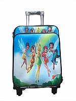 Детский чемодан на 4 колесиках Винкс, телескопическая ручка 2 положения. Подарок замок