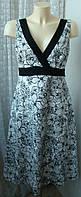 Платье женское летнее натуральный хлопок и лен  миди бренд F&F р.46 5052