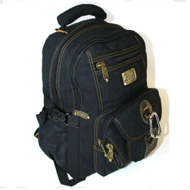 Рюкзак GOLDBE 0107 чорний з карабіном