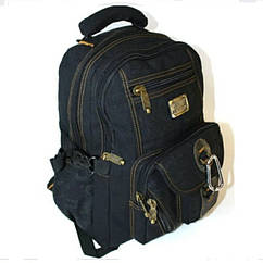 Рюкзак GOLDBE 0107 чёрный с карабином