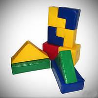 МЯГКИЙ КОНСТРУКТОР для малышей (10 модулей+4 фигур), фото 1