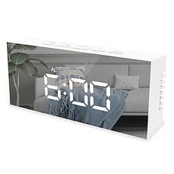 Настольные зеркальные часы Hom Comfort 140х61х36мм (белый корпус)