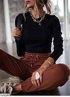 Стильная приталенная кофта женская облегающая в рубчик трикотаж с длинным рукавом р-ры 42-48 арт.02, фото 1